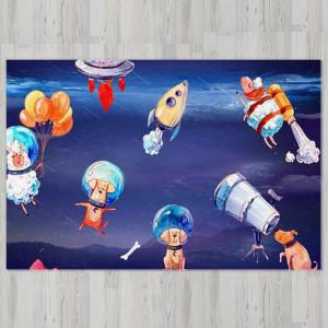Ковер в детскую Собаки в космосе