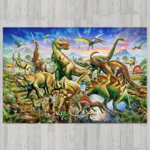 Ковер в детскую Стая динозавров