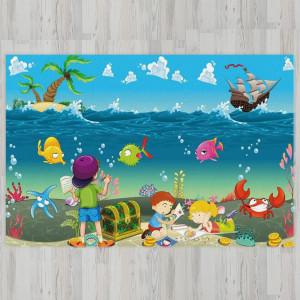 Ковер в детскую Сокровища на морском дне
