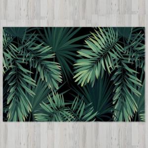 Ковер в детскую Листья пальмы на темном фоне
