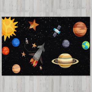 Ковер в детскую Космонавт в открытом космосе
