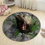 Ковер в детскую Тиранозавр ломающий стену