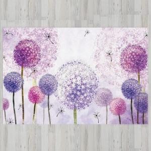 Ковер в детскую Фиолетовые одуванчики