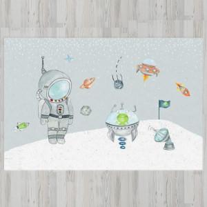 Ковер в детскую Космонавт с инопланетянином
