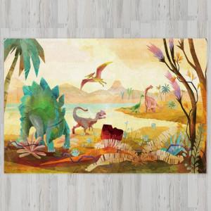 Ковер в детскую Стегозавр на поляне