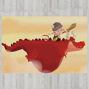 Ковер в детскую Верхом на драконе
