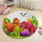 Ковер в детскую Графити динозавры