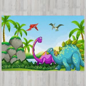Ковер в детскую Динозавры у скалы