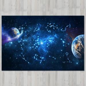 Ковер в детскую Созвездия в космосе