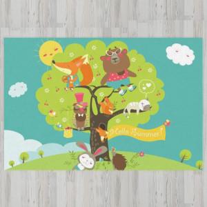 Ковер в детскую Друзья на дереве
