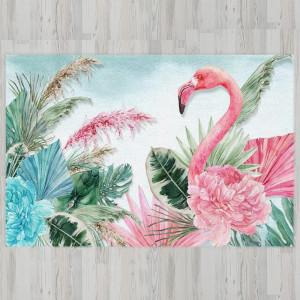 Ковер в детскую Фламинго в растительности