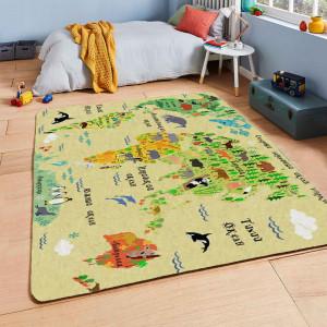 Ковер в детскую Желтая карта мира