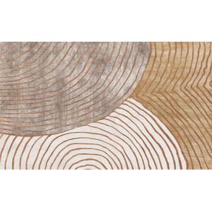Ковер Современный коричневый ковер №419