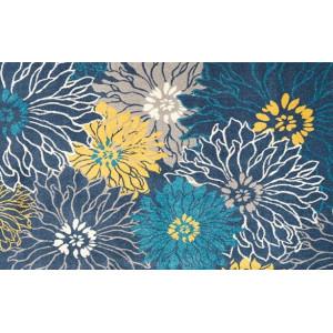Ковер Сине-желтые цветы №443