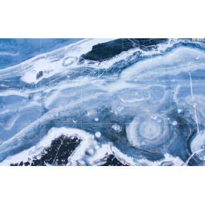 Ковер синий мрамор №469