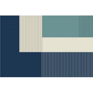 Ковер современный сине-зеленый №473