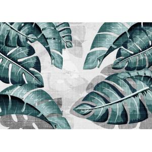 Ковер листья на белом фоне