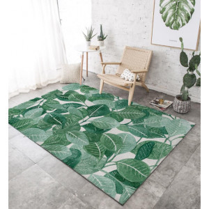 Ковер зеленые листья №489