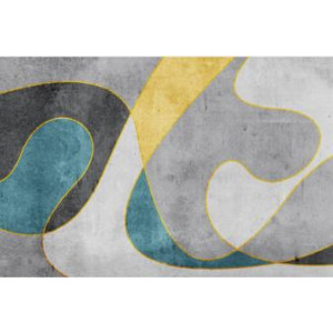 Ковер современный серый №515