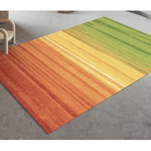 Ковер оранжево-зеленые полосы №516