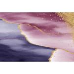 Ковер розово-синий мрамор №518