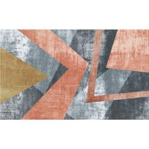Ковер современный оранжево-серый №520