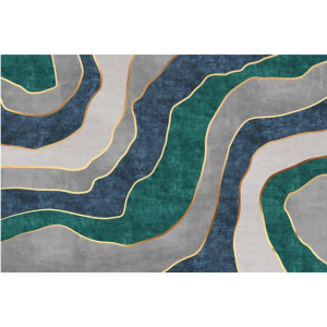 Ковер зелено-серый мрамор №521