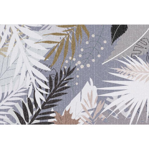 Ковер Черно-белые листья №552