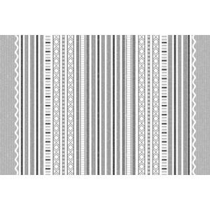 Ковер Черно-белая полоса №562