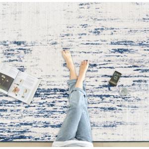Ковер Лофт с синим цветом №591